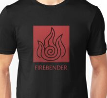 Firebender (with text) Unisex T-Shirt