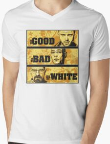 the good, the bad, and the white Mens V-Neck T-Shirt