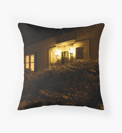 A Warm Hearth Awaits Throw Pillow