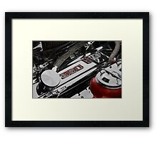 Corvette 350 engine  Framed Print