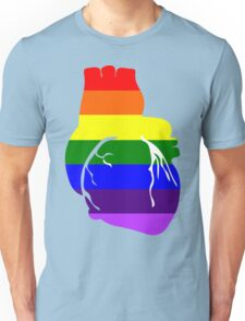 I Love Rainbow Flag Heart Unisex T-Shirt