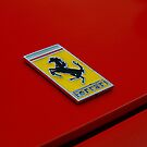 Vintage ferrari badge by Paul Boyle