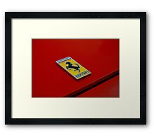 Vintage ferrari badge Framed Print