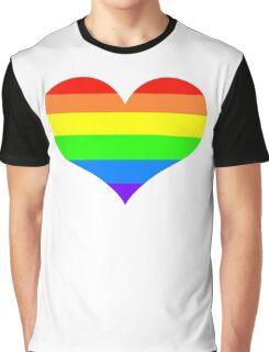 Rainbow heart Graphic T-Shirt