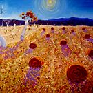 The Hay Bales by Richard  Tuvey