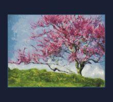 Pink Flowering Tree One Piece - Short Sleeve
