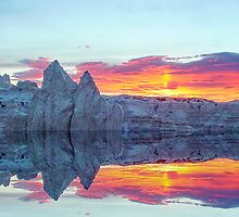 Sunset reflections by Penny Rinker