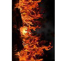 Fake Fireplace Photographic Print