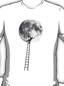 MOONSHINE black and white illustration and silhouette T-Shirt