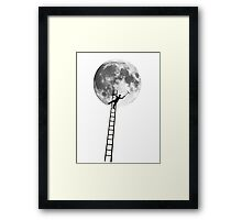MOONSHINE black and white illustration and silhouette Framed Print