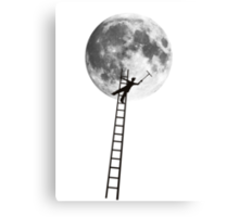MOONSHINE black and white illustration and silhouette Canvas Print