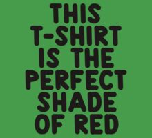 This t-shirt is the perfect shade of red Kids Clothes