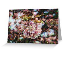 Cherry Blossom Machine Dreams Greeting Card