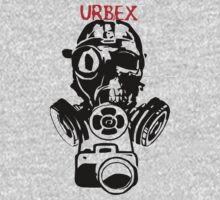 Urban Exploration UrbEx Gas Mask Skull by Charles Bodi
