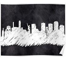 Landmark Skyline - Birmingham Alabama Poster