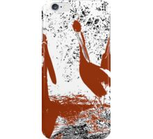 brown pelicans iPhone Case/Skin