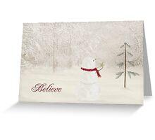 Believe In Christmas Greeting Card