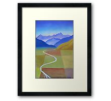 Canterbury Plains from Above Framed Print