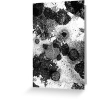 Grease Spots Greeting Card