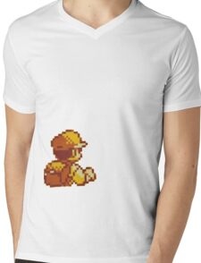 Red from Pokemon (Ash) Mens V-Neck T-Shirt