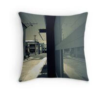 Garage Blues Throw Pillow