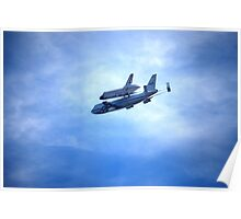 """Space Shuttle """"Endeavour"""" Flyover Poster"""