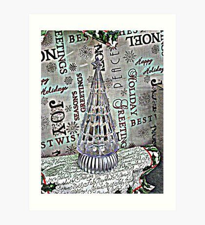 Crystal Christmas Tree Art Print