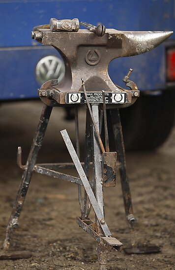Farriers Anvil  by Stephen J  Dowdell