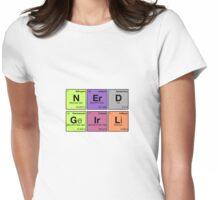 NERD GIRL - Periodic Elements Scramble! Womens Fitted T-Shirt