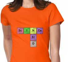 SCIENCE NERD - Periodic Elements Scramble! Womens Fitted T-Shirt