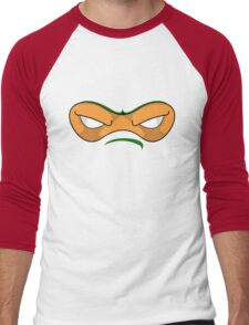 Teenage Mutant Ninja Turtles - MICHAELANGELO MASK Men's Baseball ¾ T-Shirt