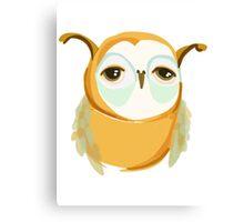 Mustard Owl Canvas Print