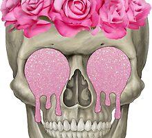 Hipster Skull by e1iza