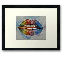 Lips Framed Print