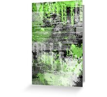 Green Grunge Greeting Card