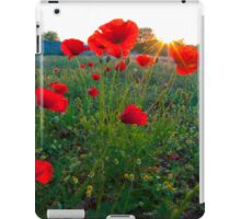 Poppies and sunrise iPad Case/Skin
