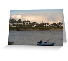 view from the river Fal. Greeting Card