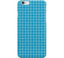 Snowflake Print on Blue iPhone Case/Skin