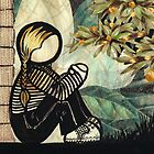 Hand painted and collage work : Take Me With You. by Lisadee Lisa Defazio