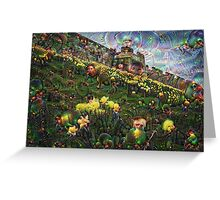 York Daffodils Machine Dreams Greeting Card
