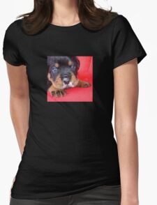 Comical Rottweiler Puppy With Food On Snout T-Shirt