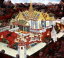 Grand Palace Bangkok Thailand 3 by Terry Jorgensen