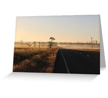 along the road - through the fog... Greeting Card