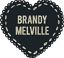 Brandy Melville Logo Heart by e1iza