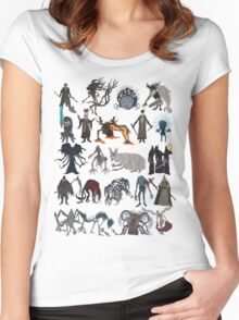 Bloodborne bosses Women's Fitted Scoop T-Shirt