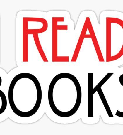 I read books. Sticker