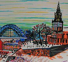 River Tyne Views by George Hunter