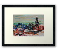 St Mary's and the Tyne Bridge in winter Framed Print
