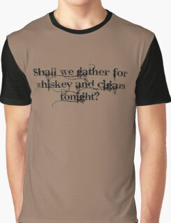 Whiskey and Cigars Dishonoured (Black) Graphic T-Shirt