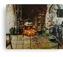 Irish Turf Fire Canvas Print